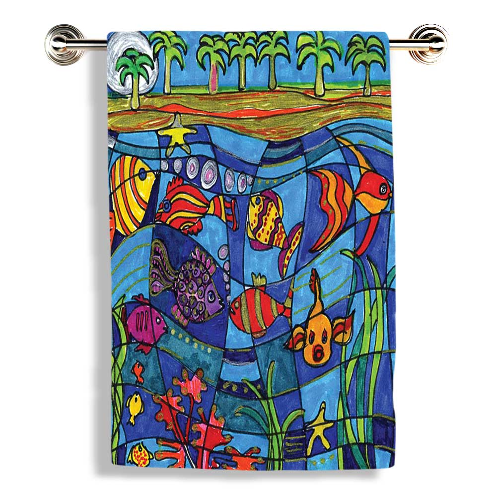 Under The Sea Bathroom Towels Soldesign