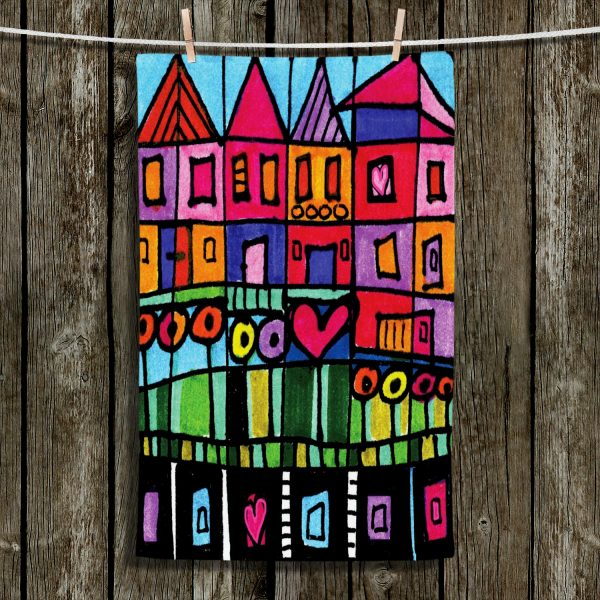 Groovy Happy Town Kitchen Towels Home Interior And Landscaping Eliaenasavecom