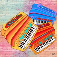 Colorful Accordions